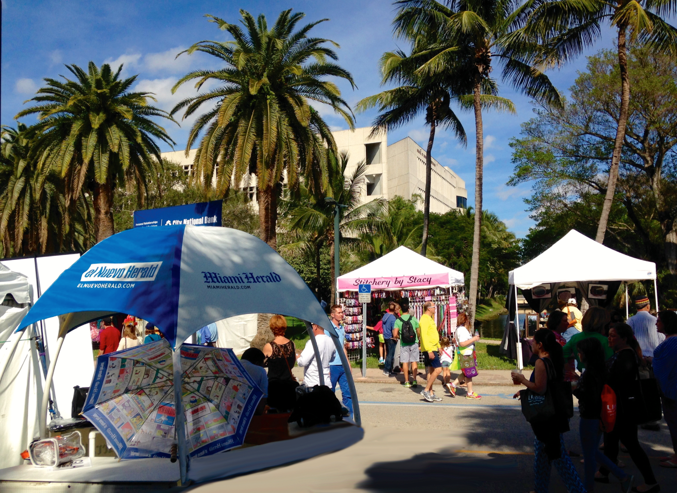 The 64th Annual Beaux Arts Festival Floods the University of Miami Streets