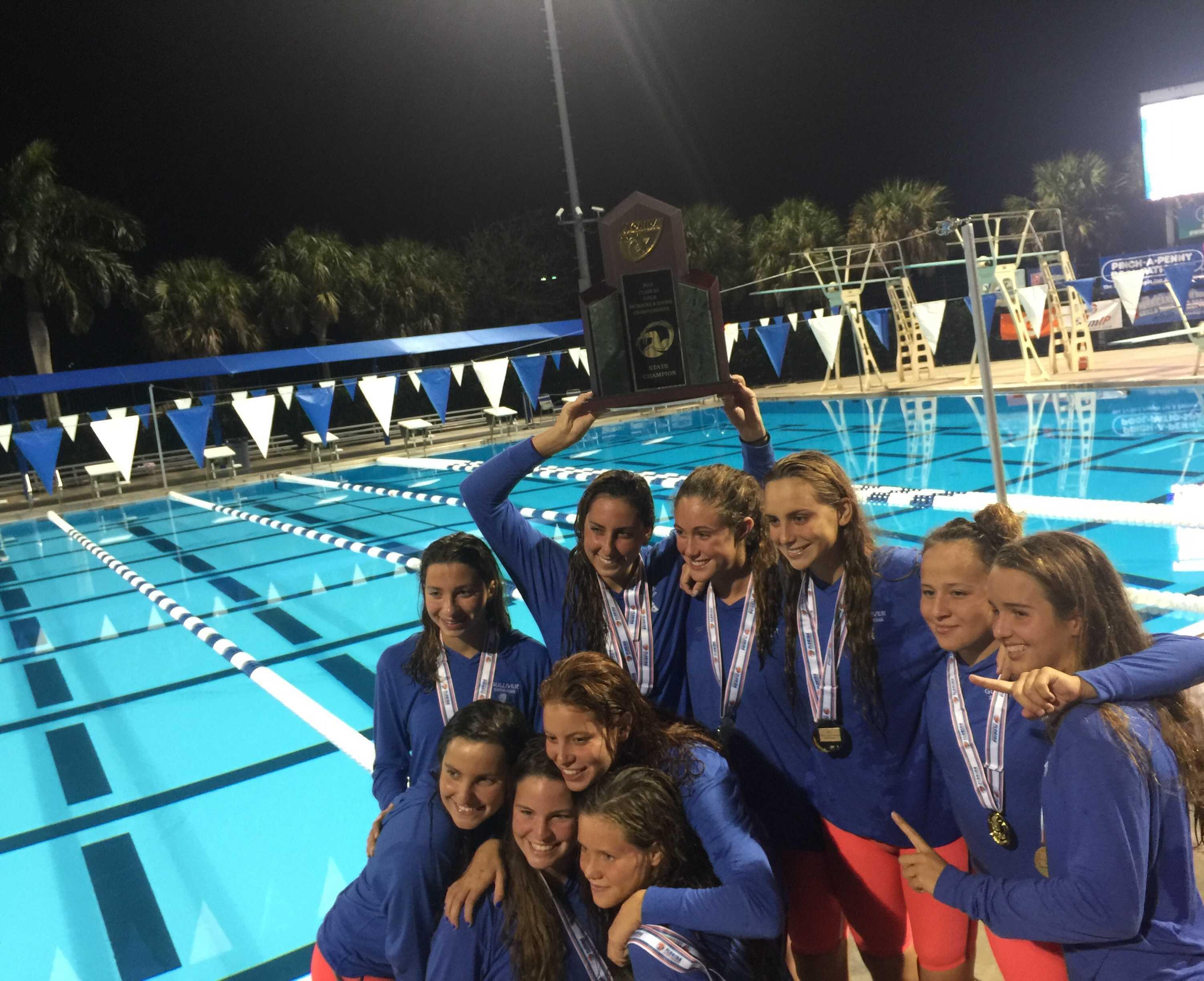 Girls Varsity Swim Team Wins 2nd State Title, Boys Finish 3rd