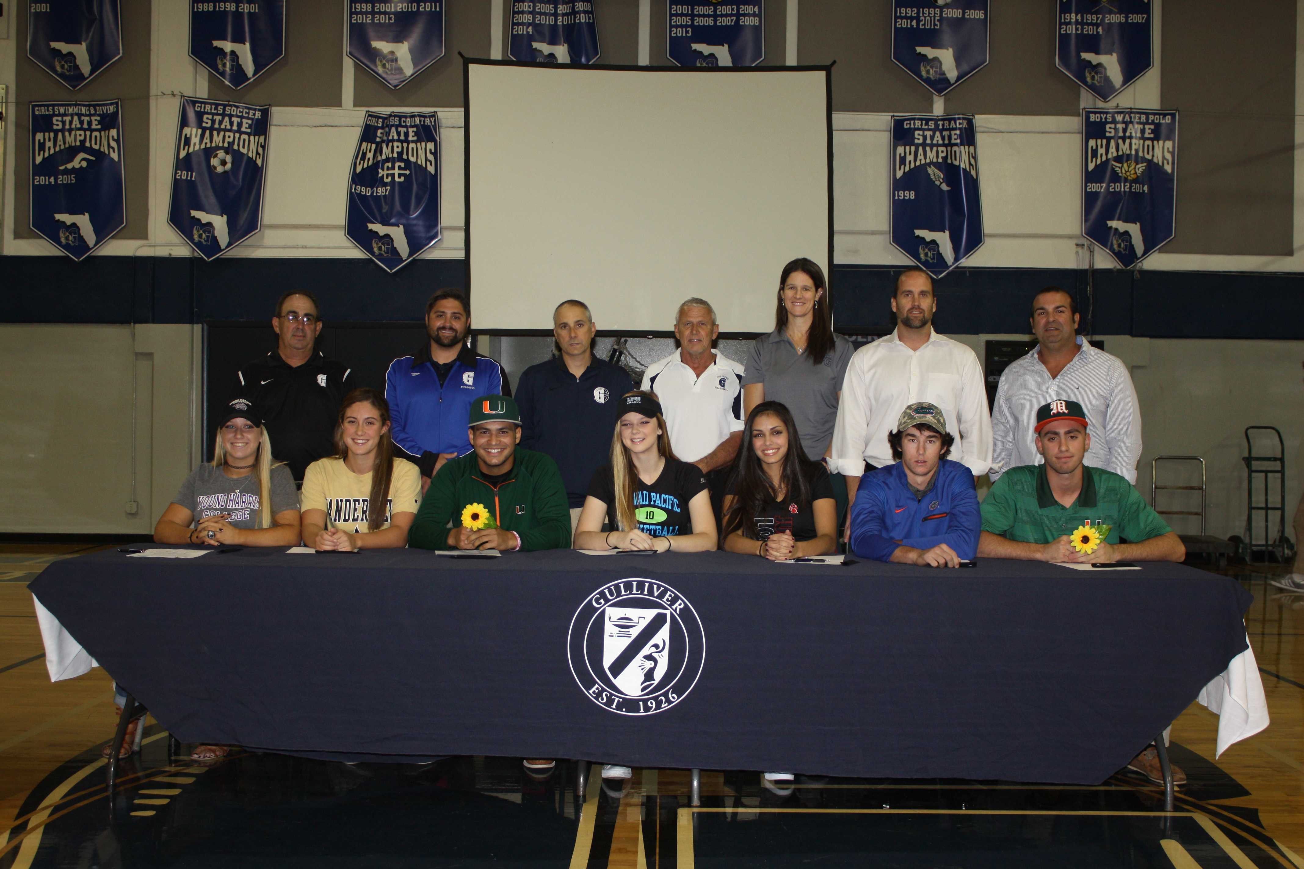 Senior Athletes Sign National Letters of Intent