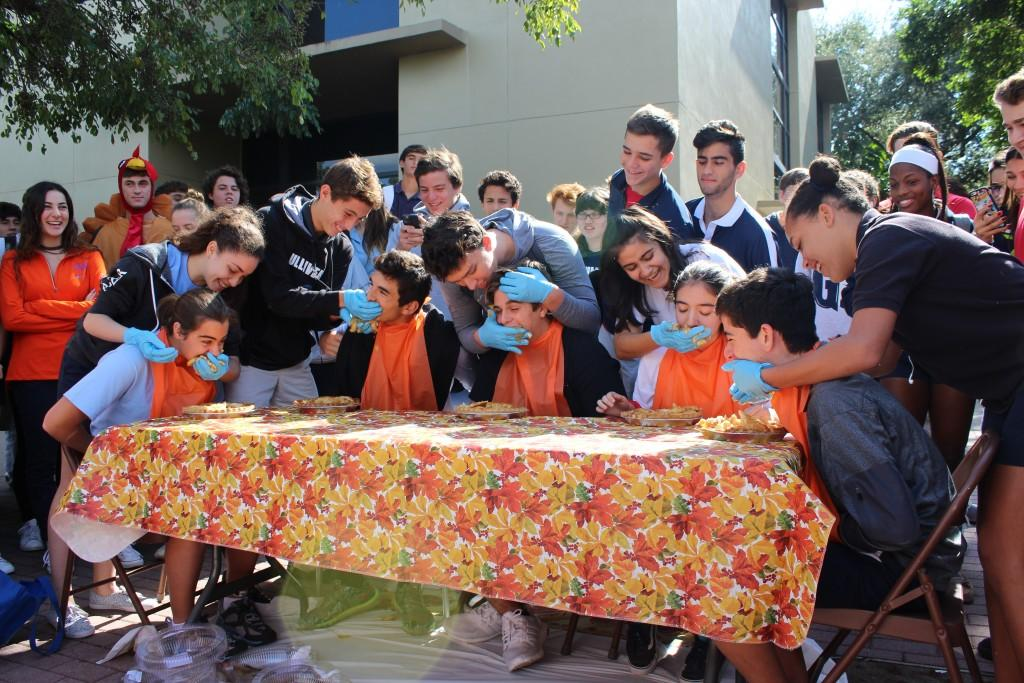 Student Council Holds Holiday Pie Eating Contest