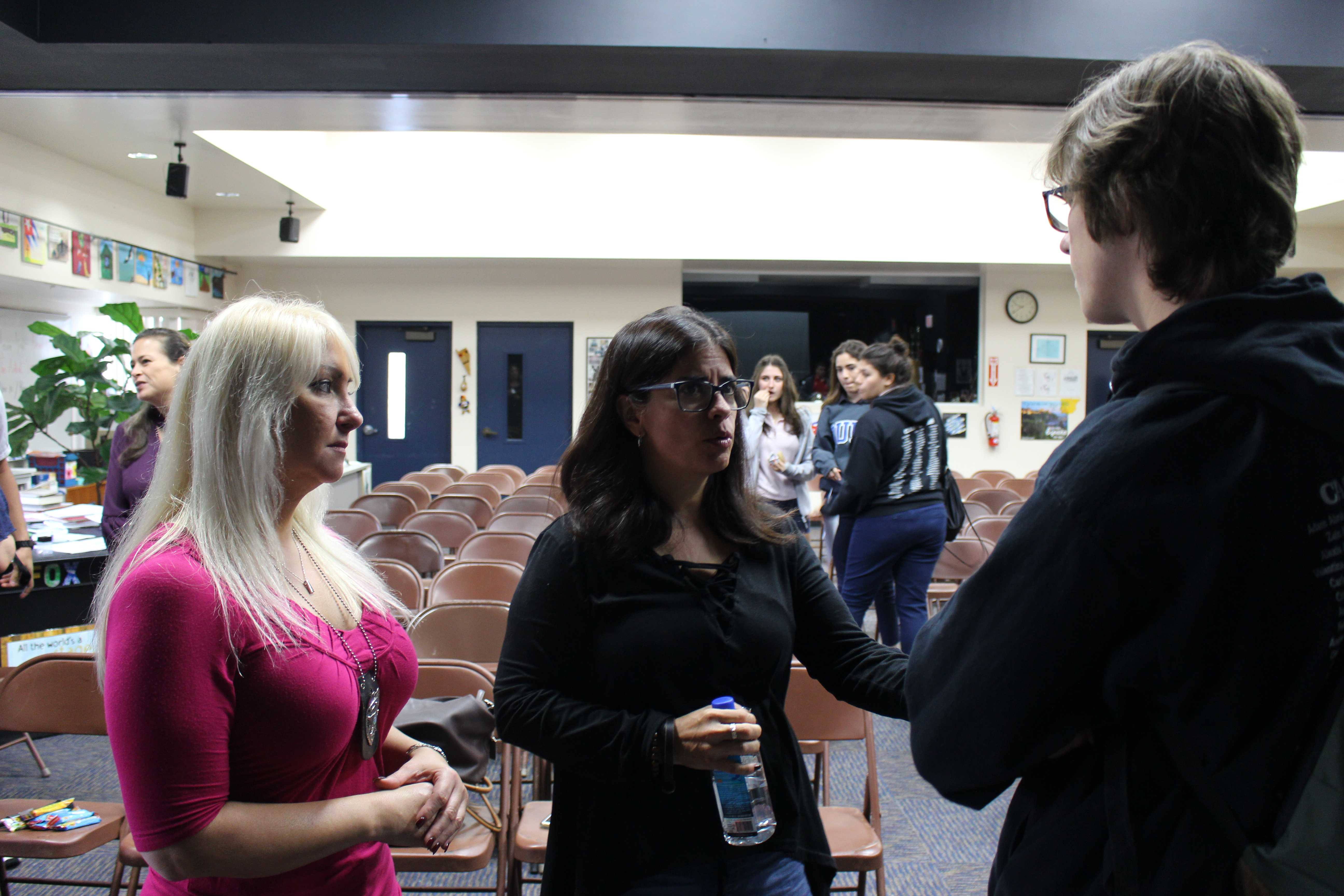 Human trafficking presentation educates students
