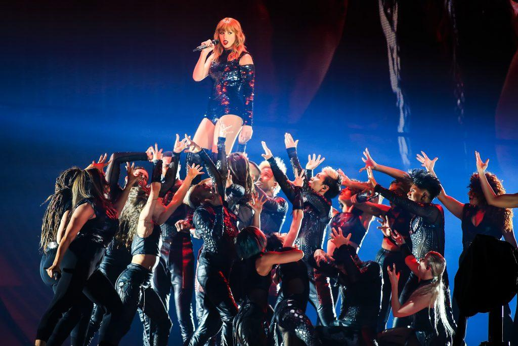 Taylor Swift during the opening show for her Reputation Tour at the University of Phoenix Stadium, Glendale, AZ, USA on Tuesday May 8, 2018. (Robert Silberblatt/PA Wire/Abaca Press.TNS0