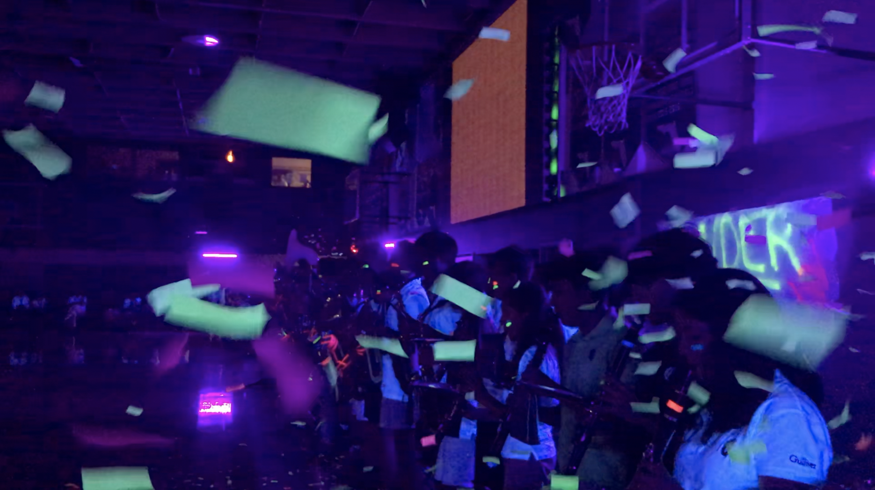 Gulliver Glows in 2018 Blacklight Pep Rally