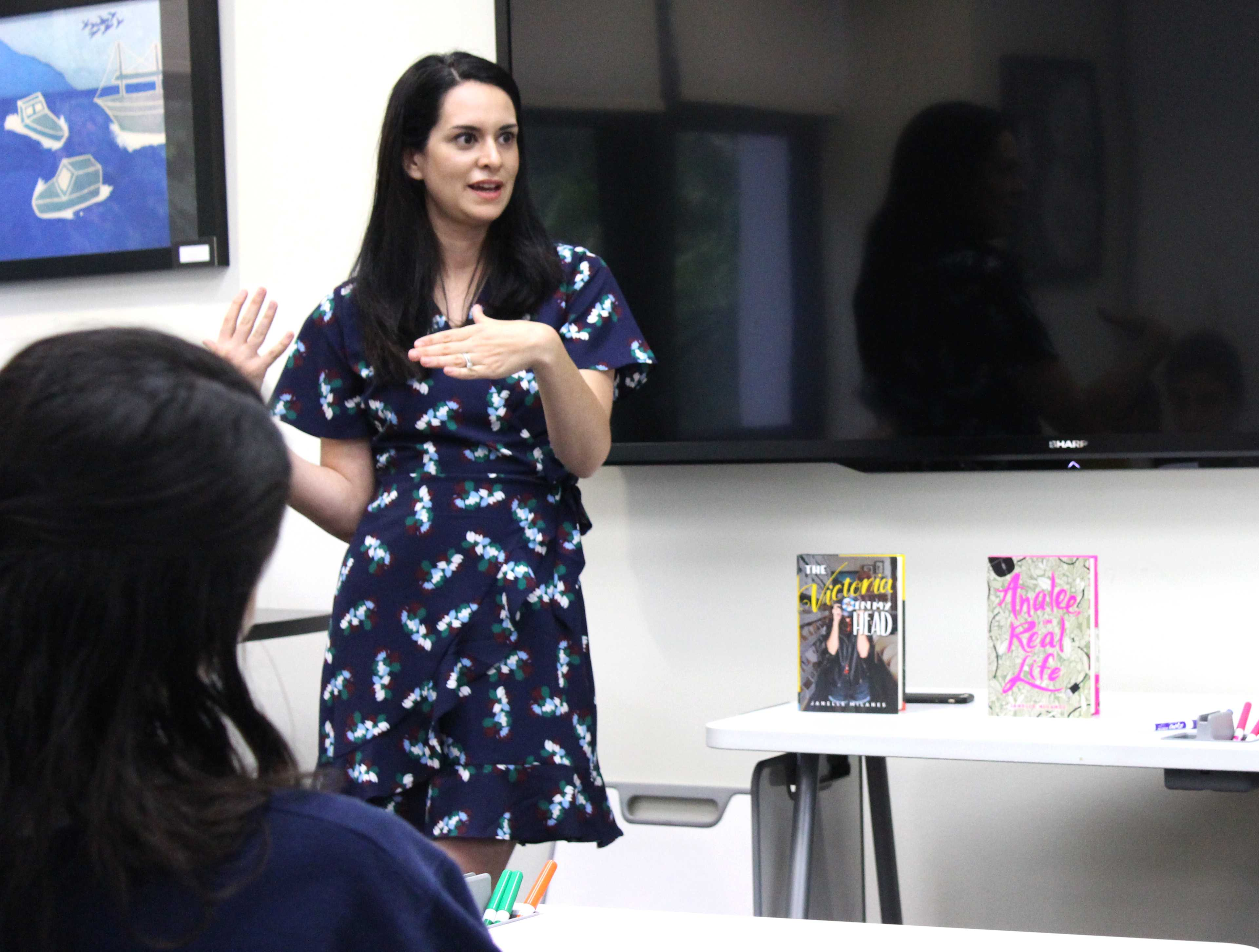 Young Adult author Janelle Milanes visits Prep