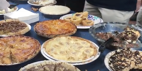 Students and staff celebrate Pi Day with math challenges and pie desserts