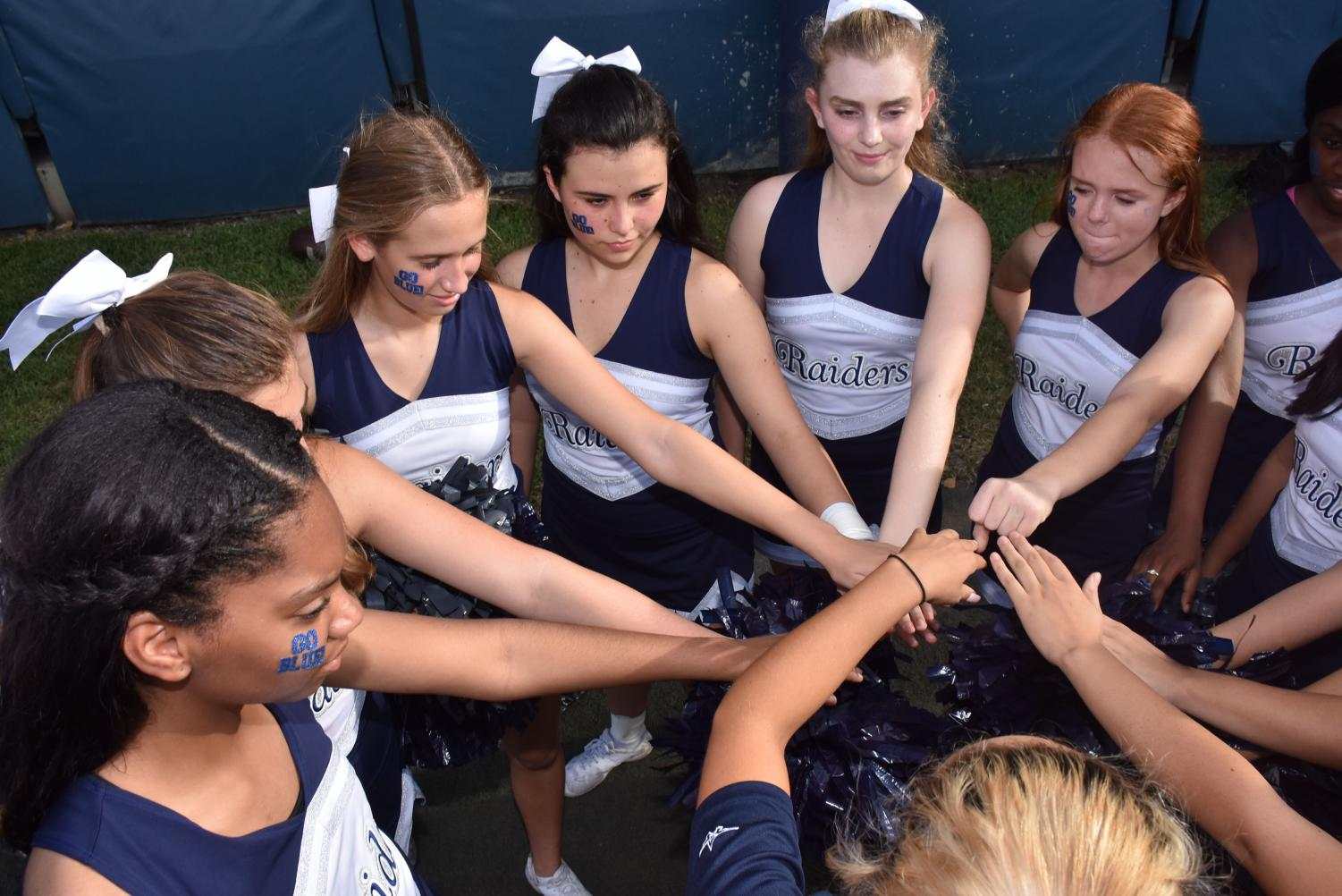 After a three-year absence, cheerleading returned to the Prep for the 2018-19 school year. Photos by FoxMar.