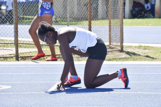 Junior Joy Hall at a meet on April 2, photo by Foxmar.