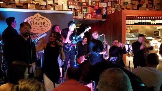Live Jazz at Neme Gastro Bar. The restaurant features live jazz nightly, from 6:00pm. Neme is located at 1252 SW 22 Street. Photo by Sara Ferrer.