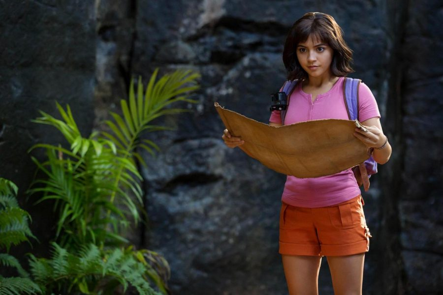 Isabela Moner stars as a teenage Dora in