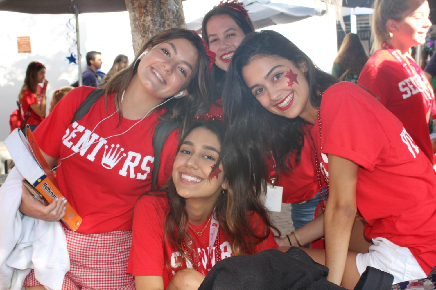 Seniors celebrate their year with school spirit waiting for college decisions.