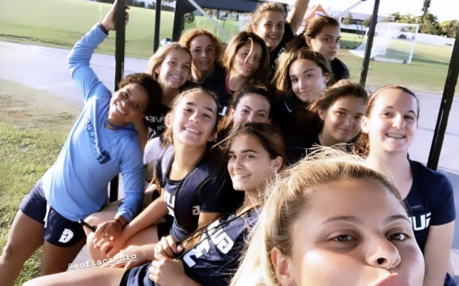 Photo (put as thumbnail): The girls soccer team traveled to IMG Academy last weekend for a training and team bonding retreat. As a result, they became closer as a team and left the IMG campus with a goal in mind. Photo by Kathleen Lewis.
