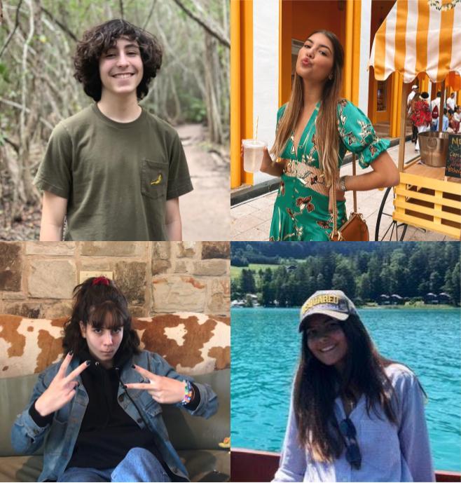 Clockwise starting from top left: Freshman Paulino Mercenari, Senior Daniella Tosca, Freshman Carolina Di Blasio, and Senior Laura Attarian.