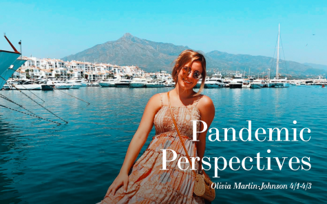 "Sophomore Olivia Martin-Johnson is a member of the yearbook staff. Martin-Johnson and her classmates each created ""Pandemic Perspectives"" websites, in which they reflected on life with a global pandemic."