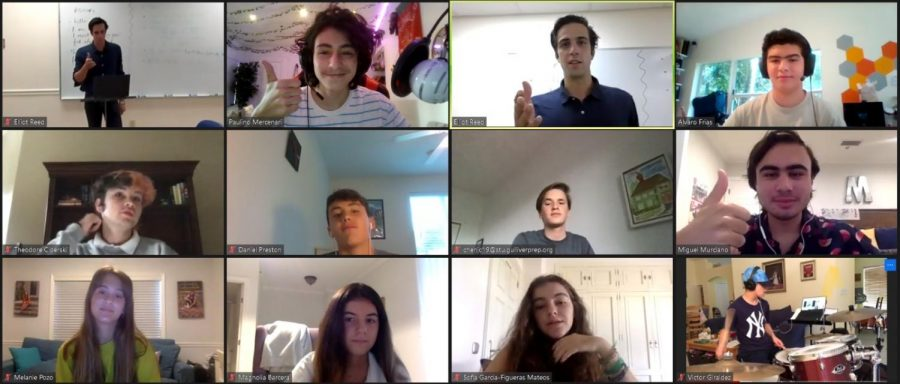 The sudden decision to start the 2020-2021 school year online has brought some new challenges to the table. However, an English class does their best to simulate the classroom experience through Zoom on the first day of school, Aug. 20.