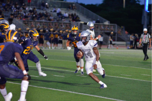 Sophomore running back Sedrick Irvin scored twice and ran for 64 yards on eight carries, averaging eight yards a carry. The Raiders defeated Belen Jesuit with a final score of 42-7 last Friday, and their next game is today, Oct. 9, at 4:00 p.m.
