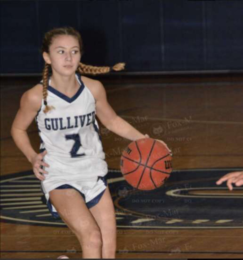 Sophomore Madison Aguilera was one of the girls' basketball team's major playmakers this season.