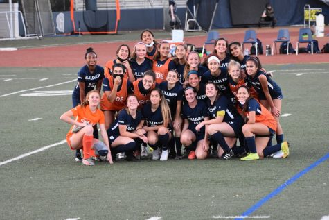 The girls varsity soccer team after their game on Friday against Palmetto High School. However, after an administration decision for all upperclassmen to quarantine for two weeks, the team is one of several now doubtful of whether they will be able to participate in the playoffs.