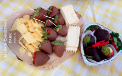 Preparing treats and having an outdoor picnic at a local park was a popular COVID-safe way to celebrate Valentine's Day with loved ones this year.