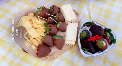 Preparing treats and having an outdoor picnic at a local park was a popular COVID-safe way to celebrate Valentine