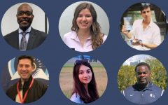 Meet six published authors on campus: Rufus Jones, Isabel Cuellar, Elliot Reed, Christopher Calvo, Lauren Bartel, and Earl Sims.