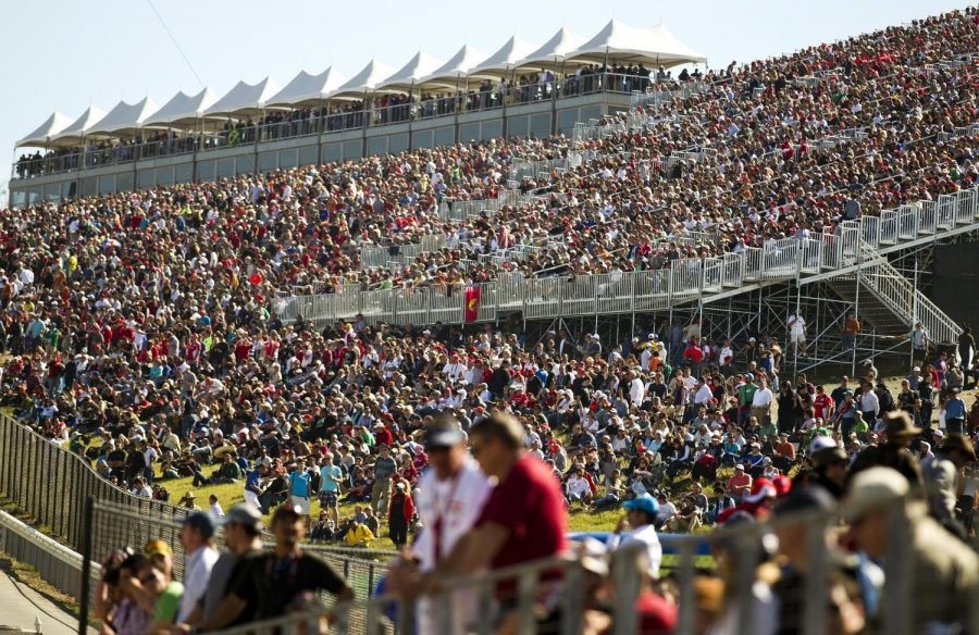 In+this+photo+from+2012%2C+F1+fans+pack+the+stands+during+the+qualifying+sessions+for+the+Formula+One+U.S.+Grand+Prix+race+at+the+Circuit+of+the+Americas.+Formula+One+racing+will+officially+come+to+Miami.