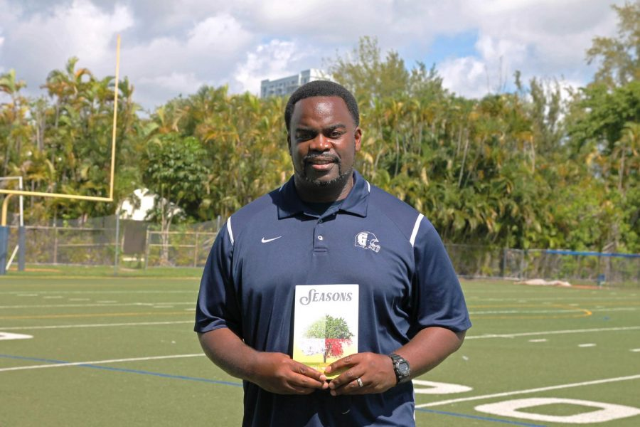 Head Football Coach and poetry class teacher  Earl Sims has recently published a book. It is a compilation of poetry called