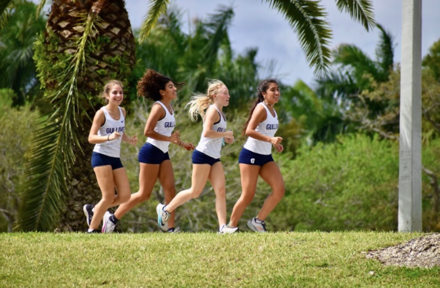 Sophomore Alejandra De Mise and juniors Nina Starvaggi, Kyra Gardner, and Olivia Torres participated in last Saturday's track and field Regional Finals. Seven girls and four boys qualified for States.