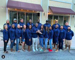 The Athletic Department celebrated winning the Miami Herald's All-Sports Award at the annual Coaches Retreat in August. The award may mark a turning point in Gulliver's athletic programs towards a more competitive future.