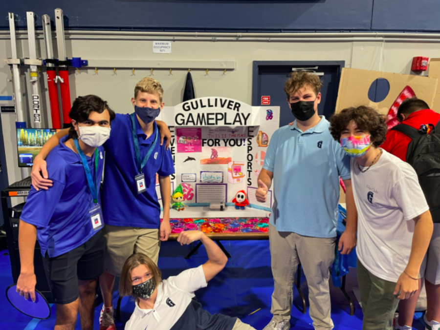 Gulliver Gameplay, a club that although it had already been operating for a full year, showed itself off at Club Rush to the student body for the first time, due to last years online format of Club Rush.