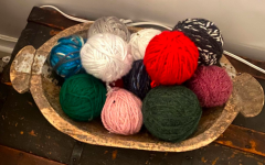 This is just a small portion of my yarn collection for knitting.